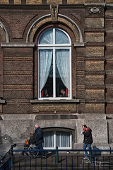 Different lifes @ The Hague (PaulHoo) Tags: nikon d750 candid streetphotography 2018 denhaag the hague city urban people citylife architecture disabled societeit window building exterior