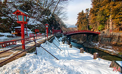 Shinkyo bridge (Benisius Anu) Tags: nikkon tochigi japan snow winter bridge shinkyo
