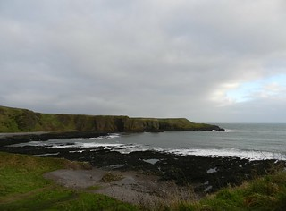 The Coastline from Dunnottar Castle, Stonehaven, Jan 2018