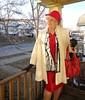 Overdressed? (Laurette Victoria) Tags: porch scarf coat gloves hat purse woman milwaukee suit laurette
