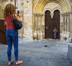 Stolen Portrait (13/365) (Walimai.photo) Tags: robado stolen candid door puerta church iglesia zamora spain españa color colour camino santiago vía plata lumix lx5 panasonic