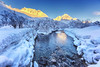 Winter river (Usstan) Tags: nikon winter alpine sætretindane mountains day cold norway seasons standalseidet river ørsta sigmaart mountainscape d750 landscape lens wideangle noon outdoor snow clear 1224mm locations water trees norge calm møreogromsdal sky frost shadows kolåstinden sunnmøre mountain no