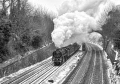 Barrow-upon-Soar Leicestershire 3rd March 2018 (loose_grip_99) Tags: barrowuponsoar leicestershire eastmidlands england uk railway railroad rail midland train steam engine locomotive britishrailways britannia brit standard br 462 pacific transportation preservation yorkshireman blackwhite noiretblanc monochrome gassteam uksteam trains railways 5305la march 2018