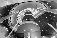 The Pearl - Reykjavik Iceland (Of Light & Lenses) Tags: perlan thepearl reykjavik gascontainer staircase interior energysupply leisure outerarea sony sonya7rii sonyzeiss zeissfe1635mmf4 bw blackandwhite schwarzweiss island architecture nordicarchitecture stairway stairwaytoheaven blackwhite iceland