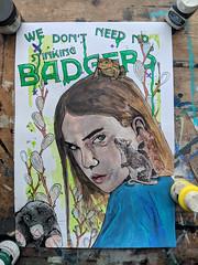 The Willowz (id-iom) Tags: idiom street urban art graffiti wind willows mole rat toad badger stinking