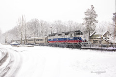 Snow Day @ Mountain Lakes Station (bozartproductions) Tags: new jersey transit metro north mountain lakes snow