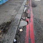 Going to Potholes - Gutter in St Loy's Road N17 thumbnail