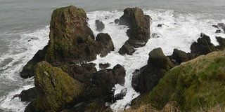 Stormy Seas from Dunnottar Castle, Stonehaven, Jan 2018