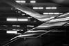 Hamburg - U4 - Up & down (Pana53) Tags: photographedbypana53 pana53 hamburg rolltreppen updown ubahn u4 station trainstation underground schwarzweisfotografie spiegelungen reflexionen nikon nikond500 linien einfarbig architektur decke rolltreppe
