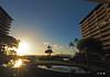 A Whaler's Sunset - Ka'anapali Beach, Maui (Barra1man (Back From Vacation)) Tags: landscape seascape sun bluesky kaanapalibeach kaanapali maui island condos resort reflections olympus olympusem1 lens918mmwideangle iso800 f221640 hawaii tropical