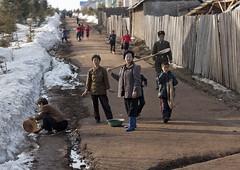North Korean women using melted snow as washing water, Ryanggang Province, Samjiyon, North Korea (Eric Lafforgue) Tags: adults asia begaebong begaebongskiresort boots cold colourimage communism dailylife day dictatorship dprk fence fulllength groupofpeople horizontal humanbeing lookingatcamera mountbaekdu mountpaektu nkorea8854 northkorea outdoors path poverty residentialdistrict road ryanggangprovince samjiyon shovel skiresort snow street winter working 北朝鮮 북한 朝鮮民主主義人民共和国 조선 coreadelnorte coréedunord coréiadonorte coreiadonorte 조선민주주의인민공화국 เกาหลีเหนือ קוריאההצפונית koreapółnocna koreautara kuzeykore nordkorea північнакорея севернакореја севернакорея severníkorea βόρειακορέα