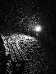 (piotrasss3) Tags: snow winter light bw blackandwhite