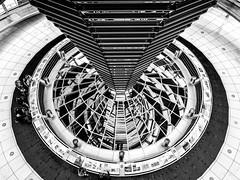 Berlin; Mothership II (drasphotography) Tags: berlin germany deutschland monochrome monochromatic blackandwhite drasphotography bianconero schwarzweis nikon d810 architecture architektur abstract abstrakt modern norman foster nikkor2470mmf28