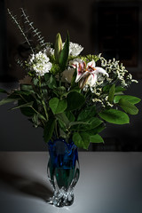 White Bouquet (pbradyinct) Tags: garden vase petal flowers nature blossom floral romantic flower green bloom blue white bouquet