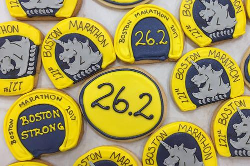 Boston Marathon Cookies