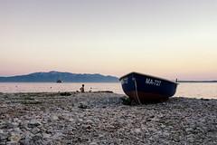 Day's end... (www.instagram.com/matejduzel/) Tags: boat sea summer adriatic sunset august 2017 panasonic gh4 lumix hvar island dalmatia croatia drvenik sky landscape mountain water ocean rocks beach sand