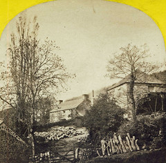 Unidentified location, water mill c1870s (picturepast) Tags: stereoview watermill victorian