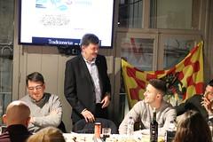 La penya Lo Nàstic celebra el 1r aniversari amb jugadors grana