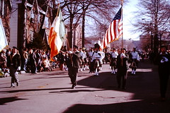 Found Photo - St. Patrick's Day Parade, New Jersey 1976 (Mark 2400) Tags: found photo st patricks day parade orange new jersey 1976