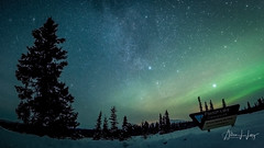 Paxson Lake Night Sky (allan.l.long.photography) Tags: northernlights auroraborealis milkyway stars nightsky winter snow shootingstars gulkana river gulkanariver alaska paxsonlake
