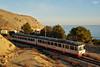 El trenet entre Marinas (lagunadani) Tags: 2300 paisaje atardecer man mediterraneo altea sierradebernia tren ferrocarril automotor diesel fgv tram trenet marinabaixa mascarat