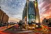 IMG_0640 (Rj Wu) Tags: 車軌 日曜天地 台灣 台中 夜景 日落 黃昏 火燒雲 天空 夕陽 光軌 雲 藍天 白雲 色溫 廣角