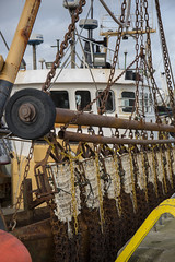 chains (Wendy:) Tags: sea harbour port fishing boats howth chains rusty tackle metal