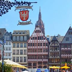 in old Frankfurt (mujepa) Tags: römerhaus medieval frankfurt germany sign enseigne