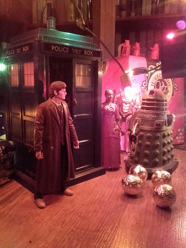 """Traditional 25th of December """"Adoration Of The Tardis"""" scene."""