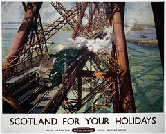 Forth Rail Bridge, Scotland, Terence Cuneo 1952 (Pitheadgear) Tags: forthbridge bridge bridges scotland architecture engineering civilengineering queensferry nationalmuseumofscotland poster posters graphicdesign graphics graphic railways transport terencecuneo cuneo artists art britishrailways br