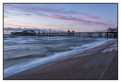 North Pier Pink Sunset (stephenballam) Tags: canon clouds eos waves steps seascape evening colour camera photo photography pink