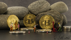bitcoins in a safe solid as a rock (compuinfoto) Tags: bicoins rock banking bit figures safe deposit man btc business coin gold conceptual crypto cryptography currency blackchain digital dollar electronic exchange finance financial golden silver money payment wealthy rich virtual web littleworld