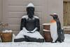 A cold English Day (Evoljo) Tags: buddah penguin snow cold bird models pots white nikon d500