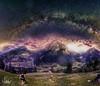 Milkyway Mountain hiking (Ukelens) Tags: ukelens kiental bern schweiz swiss switzerland suisse svizzera mountains milkyway mountain hiking berge milchstrasse manipulation composing sureal sun sonne sonnenschein sonnenstrahl sterne sternenhimmel wandern shadow nature natur astro berg