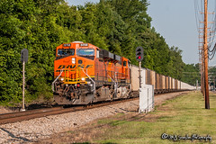 BNSF 5758 | GE ES44AC | NS Memphis District (M.J. Scanlon) Tags: bnsf5758 ge es44ac 732 ns732 loaded coal signal signals bnsf bnsfrailway burlingtonnorthernsantafe burlingtonnorthernsantaferailway ns nsmemphisdistrict nsmemphisdistrictwestend norfolksouthern collierville tree sky digital merchandise commerce business wow haul outdoor outdoors move mover moving scanlon mojo canon eos engine locomotive rail railroad railway train track horsepower logistics railfanning steel wheels photo photography photographer photograph capture picture trains railfan tennessee