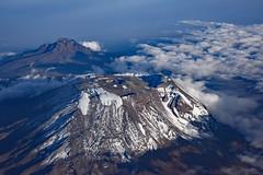 Aerial view of Mt Kilimanjaro in the evening (takashimuramatsu) Tags: mt kilimanjaro qatarairlines view mount