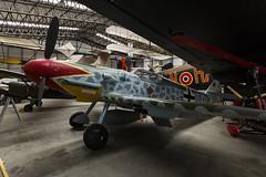 Messerschmitt Bf109G-6 - 2 (NickJ 1972) Tags: yorkshire air museum 2014 aviation messerschmitt bf109 me109 gustav bapc240 green 1 replica