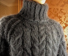 Heavy mohair wool turtleneck (Mytwist) Tags: tigrisina mohair hand knitted graphite gray cable knit tneck sweater jumper timeless turtleneck designed style fetish fashion bulky modern fisherman