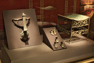 Furniture hardware and footrest, bronze, Pompeii