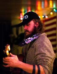1-DSC_5234-001 (LarryJ47) Tags: man guitar singer nikon d700 50mm f14 lens music indoors flag recording session color