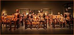 wooden dolls (heinzkren) Tags: holz puppen ausstellung color farbe old alt figuren dummys mannequin puppet gliederpuppen panasonic lumix collection sammlung ydessahendeles kunst art artcollection kunstsammlung szenario wien vienna austria exhibition museumsquartier wideangle weitwinkel