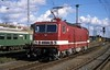 143 271  Rostock  05.09.93 (w. + h. brutzer) Tags: rostock eisenbahn eisenbahnen train trains deutschland germany elok eloks railway lokomotive locomotive zug 243 143 dr db webru analog