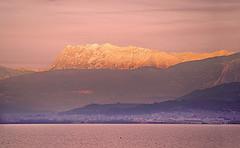Rare Composition! - Giona mt. over Patras! (GEORGE TSIMTSIMIS) Tags: patras greece parnassos mountain k1 pentaxk1 telephoto pentaxhddfa150450f4556aw ships alpenglow fullframe warmcolours