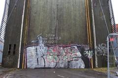 Banksy Mural on Scott Street Bridge (mark_fr) Tags: banksy mural art poster scott street bridge kingston upon hull river east yorks yorkshire graffiti