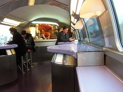 Buffet car - TGV from Paris to Barcelona (TeaMeister) Tags: europe train travel interrail seat61 cities rail spain espana malaga andalusia renfe sncf france ave tgv europeanunion journey paris london eurostar createyourownstory buffet