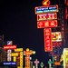 The night of neon signs