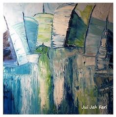 (c) Segelboote - Sailboats /1 (Jui Jah Fari) Tags: segeln segelboot boot oil canvas juijahfari art kunst deutschland künstler artist abstrakt blue blau oilpaint painting artgalleryandmuseums boote wasser water meer theartist germany gütersloh abstract