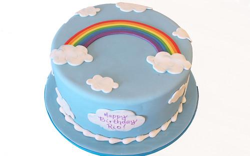 Rainbow Sky Cake