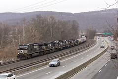 The Ghost of OIBU (sully7302) Tags: norfolk southern ns nkp conrail tier erie lackawanna el port jervis sloatsburg suffern ge emd gp382 c449w route 17 highway main line freight new york rockland county railroad transport nj transit metro north