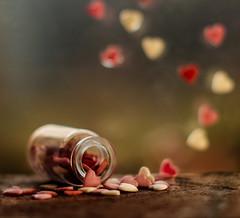 My Heart(s) will go on (Inka56) Tags: inabottle macromondays bottle heart heartshaped myheartwillgoon flickrfriday hearts crazytuesdaytheme 7dwf